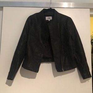 NWT BB Dakota black vegan leather jacket size S
